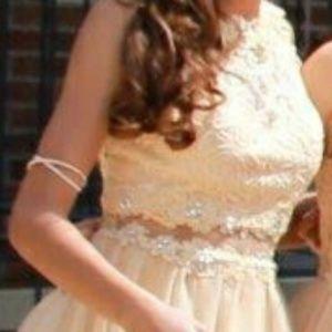 Champagne formal dress